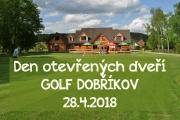 Den otevřených dveří na golfu v Dobříkově 28.4.2018